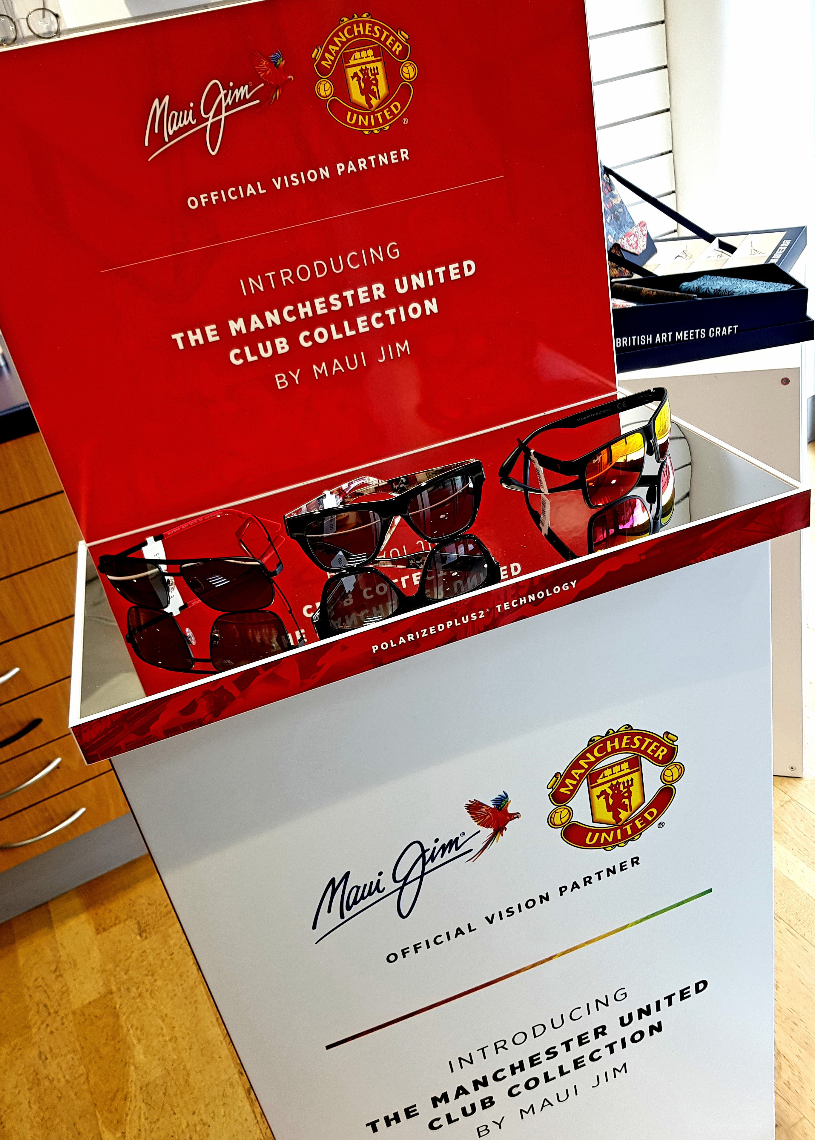 United With Maui Jim Introducing The New Man Utd Club Collection R A Glass Opticians