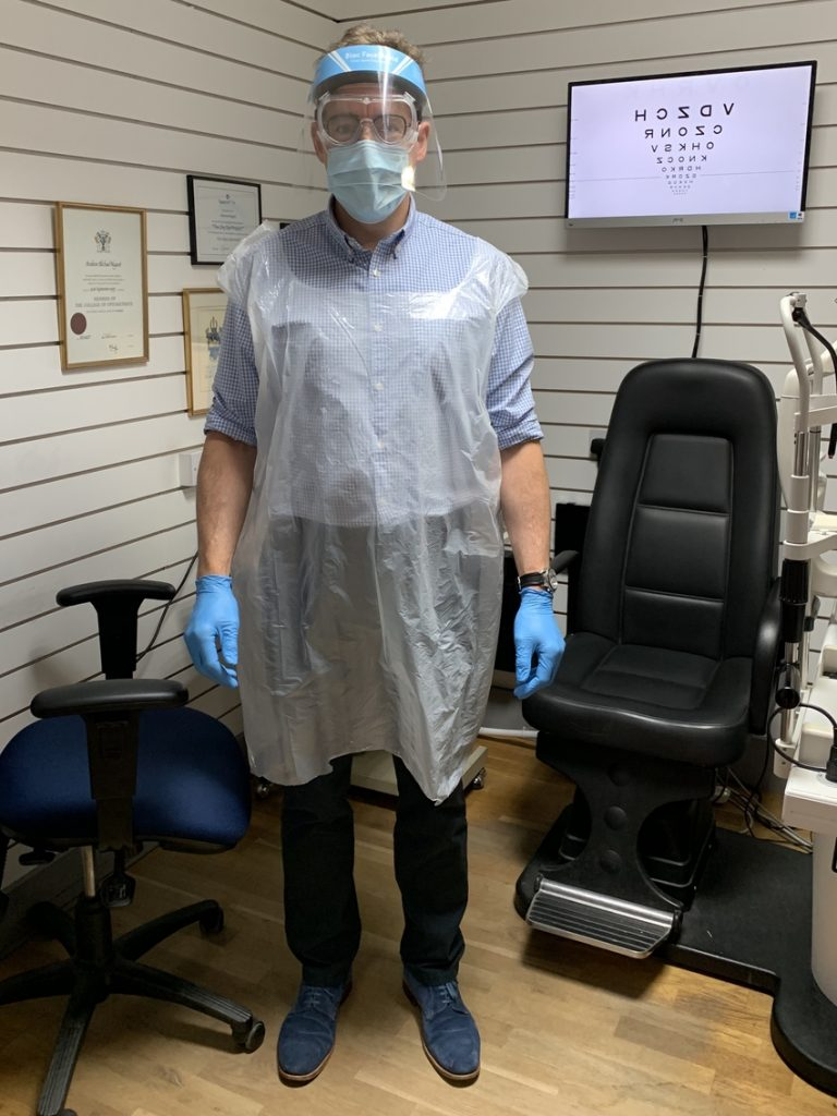 Andrew Nugent - Principal Optometrist - R A Glass Holywood - PPE